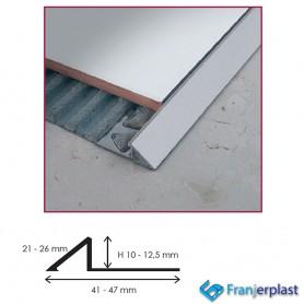 Raccordo A Scivolo In Alluminio Satinato