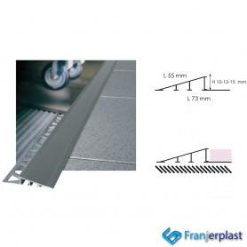 Rampa Di Raccordo Tra Pavimenti Non Complanari Alluminio Argento