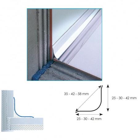 Profilo igienico in acciaio di raccordo tra pavimenti e for Rivestimenti in acciaio e listelli di assi