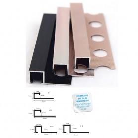 Profilo Quadro Alluminio Anodizzato Nero/Ramato