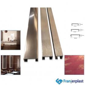 Listello In Alluminio Ramato Modello Squadrato
